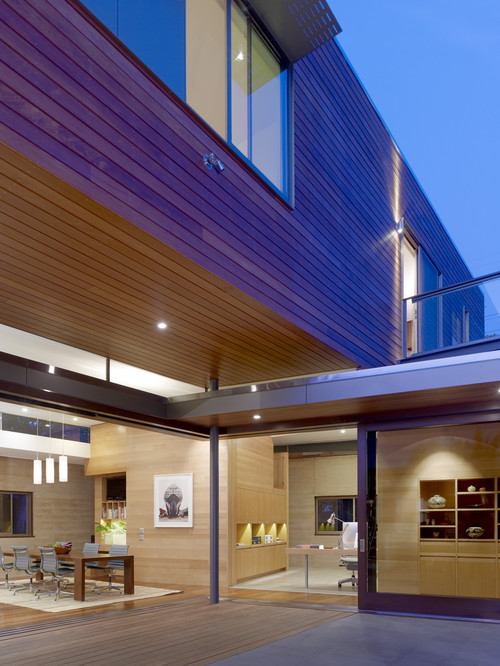 A great example of the natural beauty of wood siding.