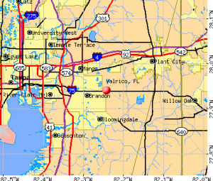 Valrico-fl-map